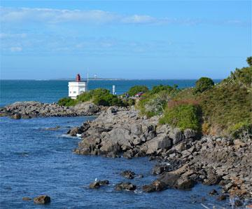 Bluff Lighthouse at the southern tip of New Zealand